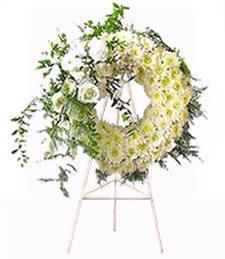 White Funeral Wreath