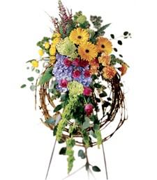 Rural Beauty Wreath Funeral Spray
