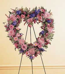 An Open Heart Standing Wreath