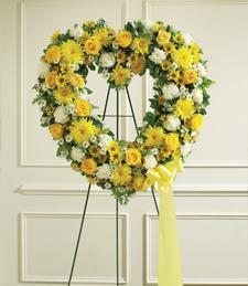 Sunshine of My Heart Sympathy Wreath