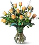 Dozen Pale Peach Roses